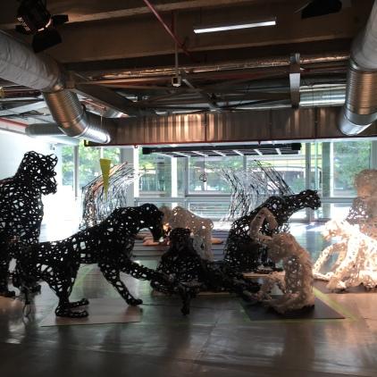 installation Jungle Battle, dans le cadre de l'expo PLAY! aux Docks, été 2016