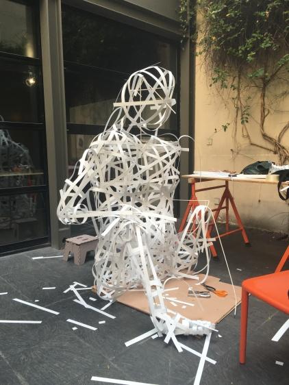 fabrication des animaux Jungle Battle, dans le cadre de l'expo PLAY! aux Docks, été 2016
