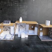 La maison écologique en noir&blanc